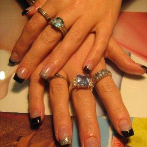 CND Black, nail graphix millenium