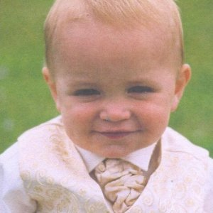 My little boy Ollie (aged 14 months!) at our wedding June 2004
