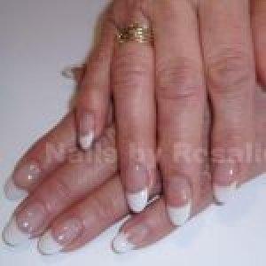 Perm French Acrylic Nails