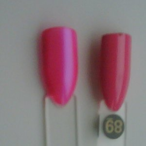 Bio Sculpture Neon Pomegranate on Ice (#102) compared to Bright Summer Pink (#89)