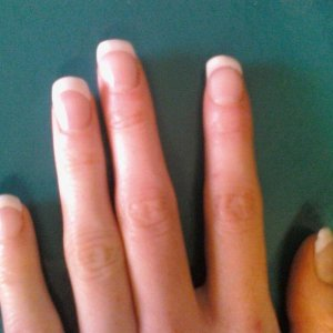 natural overlay on spoon nails