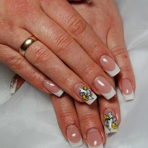first my clasic acrylic french nails