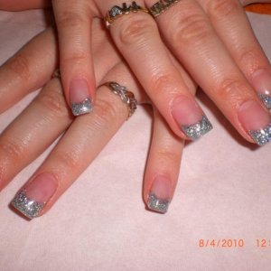 multi silver glitter acrylic