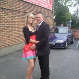 me and sean at our friends wedding - may 2009