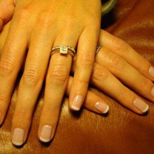 Bio Sculpture Gel Nails - Short French Overlay.