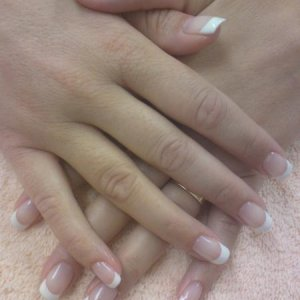First french Shellac on fingers