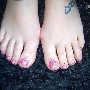 Pink Twinkle/Rockstar toes