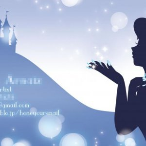 Preview of my new business card that I'm working on atm.  I went with a Cinderella theme :) Her nails were supposed to stand out more... but oh well.  I still like it.  It's girly enough to attract the right kind of clients.