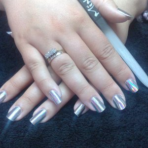 Hologram MInx on Natural with SHELLAC top coat