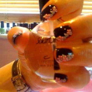 bio with nail art