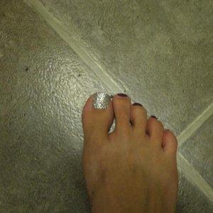just the big toe lol