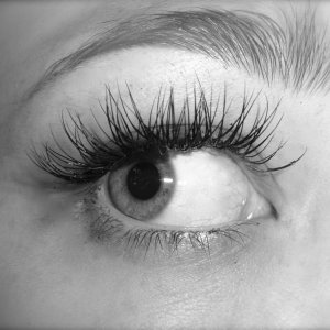 One of my first sets on my sister, C curl lashes, 10,11 and 12