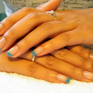 Blue French Infills: Gel 2068