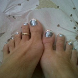 swarovski and blix topped with topcoat dashing diva .