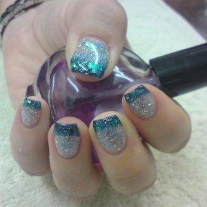 Mermaid nails lol (Bio 2012 with glitter)