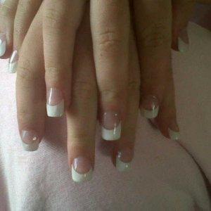 acrylic white tips