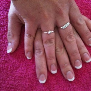 Acrylic Pink and White
