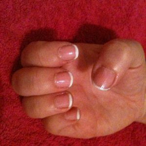 French Manicure (first attempt!)