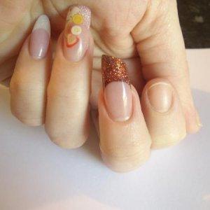 "My take on the ""lipstick"" nail"