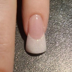 """my attempt of the """"flare"""" nail... Not for me I am afraid...do not like it one bit, But I just had to have a go lol :D"""