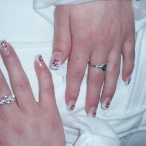 Student Freehand nail art competition in Blackpool.