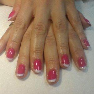 pink and white bio S