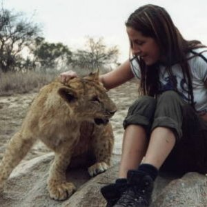 Me and a furry friend in Africa