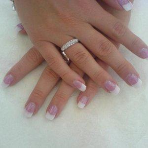 creative sheer pink and glitter