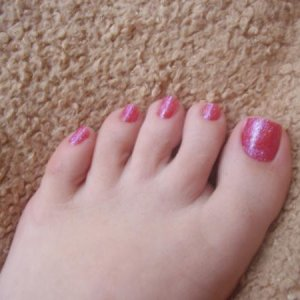 My popit toenails !!! (glitter is from a set of peewee ones ladybgemini bought for me as A gift)