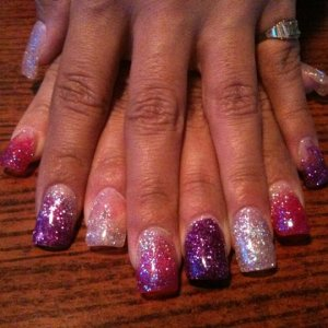 IBD Gels and Young Nails Glitter