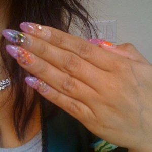 Sad Attempt at Oval Sculpted Nails..... All LeChat