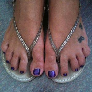 purple gelish glitter gel
