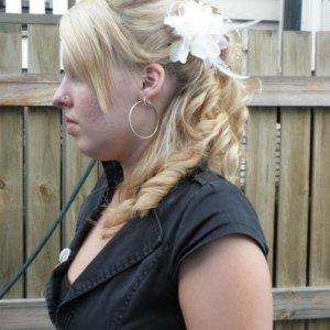 My hair for wedding expo