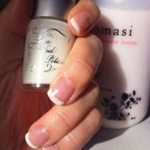 Young nails Mani-q french 1st Attempt !!