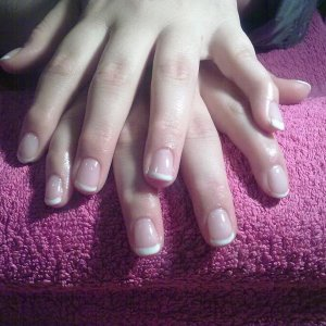 Gelish french any advise on how to improve?