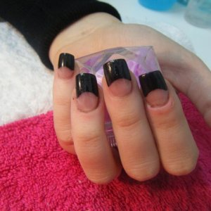 black tips...