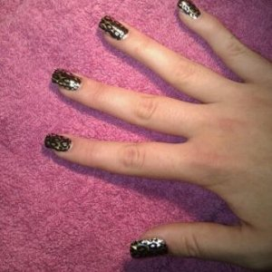 cheetah on the fingers