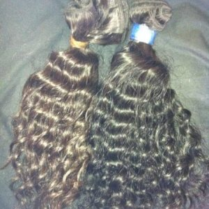 curly 100% virgin brazilian human hair extensions