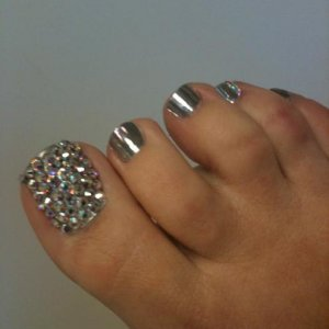 My first attempt at a Crystal Pedicure