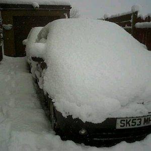 my poor wee car!