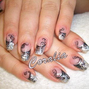refill with gel: shells and hand painting