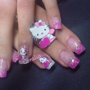 hand painted Hello Kitty
