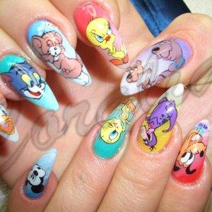 hand painted cartoons