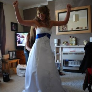 me at my prom, make up and hair done by a fellow student beauty therapist <3