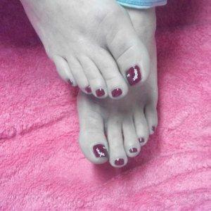 pedicure with polish n nail art