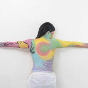 swirl body paint