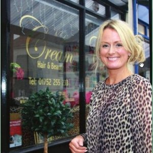 Bridget Given owner of Cream Hair and Beauty Plymouth