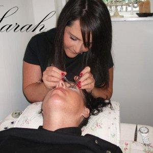 eyelash extensions by Sarah
