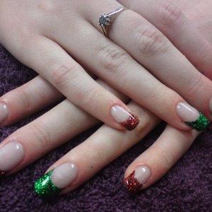 Festive Glitter tips