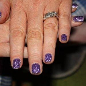 purple rockstar finger nails on myself